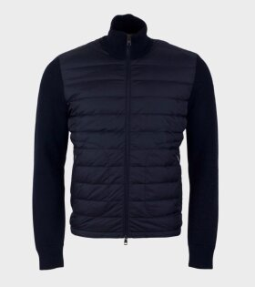 Moncler Maglione Tricot Cardigan Blue - dr. Adams