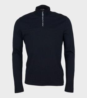 Acne Studios Ellington Tech Logo Sweatshirt Black - dr. Adams