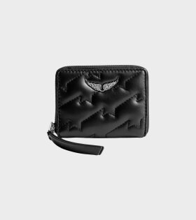 Zadig&Voltaire Mini ZV Quilted Wallet Black - dr. Adams