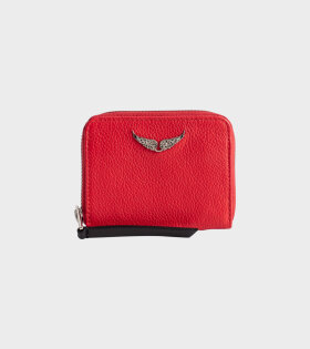Zadig&Voltaire Mini ZV Grained Wallet Red - dr. Adams