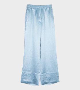 Acne Studios Pame Fluid Satin Trouser Blue