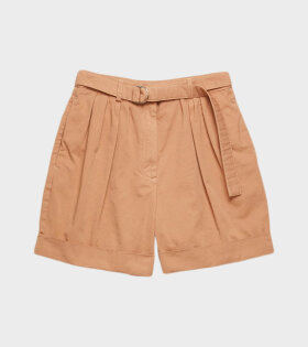 Acne Studios Rowanne Cotton Twill Shorts Beige - dr. Adams