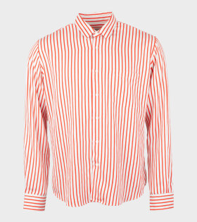 AMI Chemise Summer Fit Shirt Red/White - dr. Adams