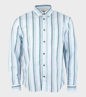 Acne Sarkis Cotton Stripe Shirt Blue/Green - dr. Adams