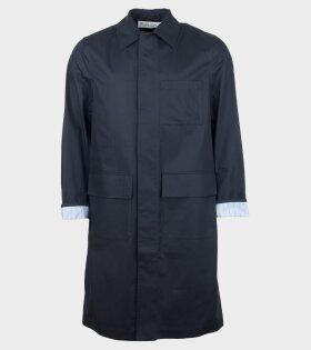 JW Anderson Mid Length Workwear Coat Blue - dr. Adams