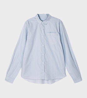 Aiayu Shirt Essential Poplin Blue Glass - dr. Adams
