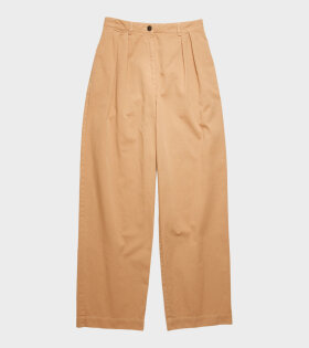 Acne Studios Pavi Cotton Twill Trousers Beige - dr. Adams