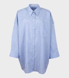 Acne Studios Suky Cotton Shirt Blue - dr. Adams