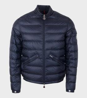 Moncler AGAY GIUBBOTTO Jacket Blue - dr. Adams