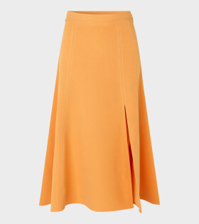Stine Goya Jada Solid Cady Skirt Orange - dr. Adams