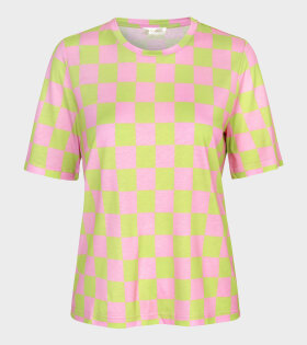 Stine Goya Leonie T-shirt Green/Pink - dr. Adams
