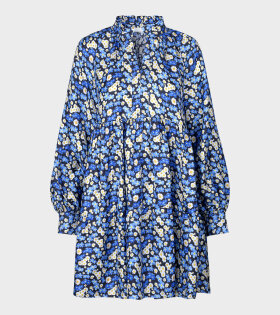 Stine Goya Jasmine Forgetmeno Dress Blue - dr. Adams