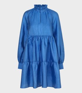 Stine Goya Jasmine Dress Blue - dr. Adams
