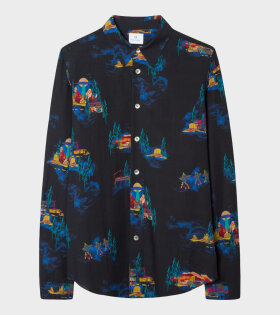 Paul Smith Mens Shirt Tailored LS Black - dr. Adams