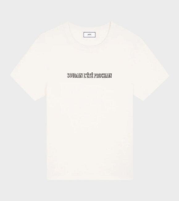 AMI - Tee Print Soudani T-shirt Off-White