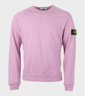 Stone Island Longsleeve Logo Sweat Pink - dr. Adams