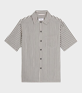 AMI Chemise Col Requin Shirt White/Black - dr. Adams