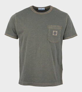 Stone Island T-Shirt Compass Logo Green - dr. Adams