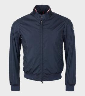 Moncler Reppe Giubbotto Jacket Blue - dr. Adams