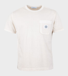 Stone Island T-Shirt Compass Logo Beige - dr. Adams