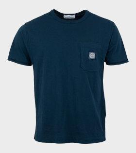 Stone Island T-Shirt Compass Logo Blue - dr. Adams