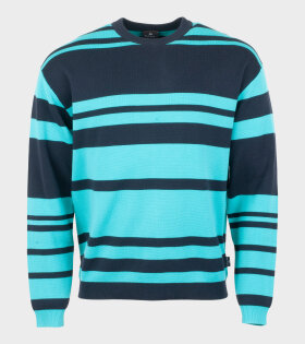 Paul Smith Striped Knit Black/Blue - dr. Adams