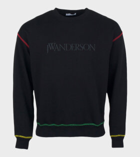 JW Anderson Logo Embroidery Sweatshirt Black - dr. Adams