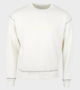 JW Anderson Logo Embroidery Sweatshirt Off-White - dr. Adams