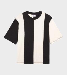 AMI Bi Colored AMI T-Shirt Black - dr. Adams