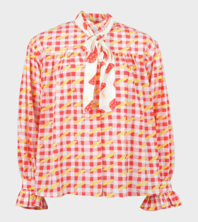 Helmstedt Bow Blouse Baguettes Red - dr. Adams