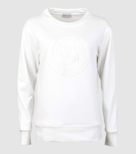 Moncler Maglia Girocollo Sweatshirt White - dr. Adams