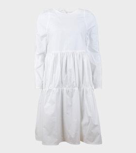 Elaine Hersby Holly Dress Long Sleeve White - dr. Adams