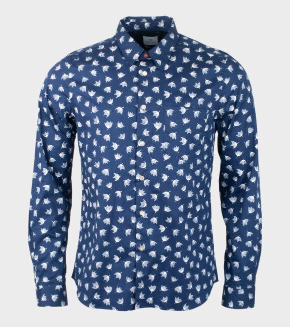 Umbrella Floral Shirt Blue