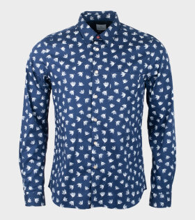 Paul Smith Umbrella Floral Shirt Blue - dr. Adams