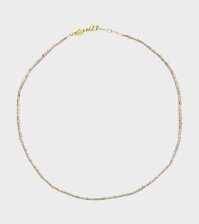 Anni Lu Sun Stalker Necklace White - dr. Adams