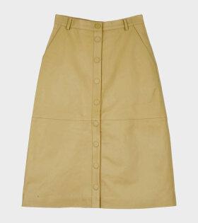 Remain Bellis Leather Skirt Yellow - dr. Adams