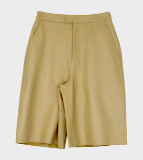 Remain Manu Leather Shorts Yellow - dr. Adams