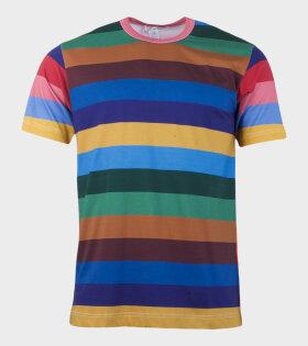 Comme des Garcons Shirt S/S T-shirt Multicolor - dr. Adams
