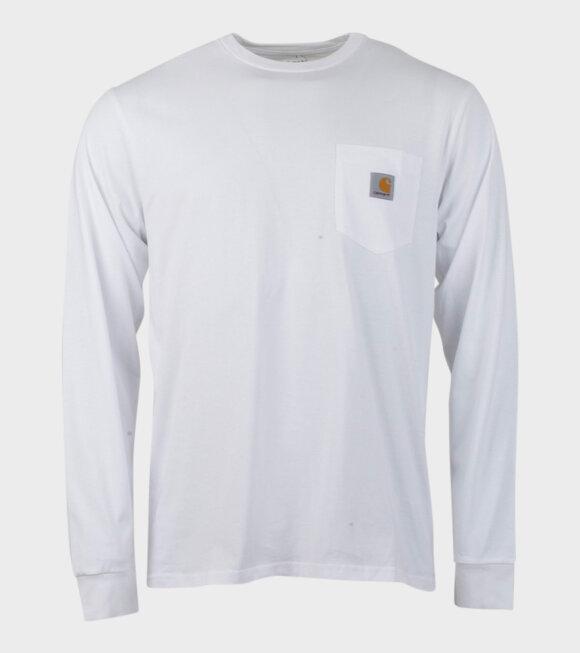 Carhartt WIP - L/S Pocket T-shirt White