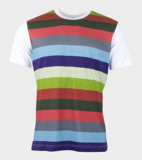 Comme des Garcons Shirt S/S T-shirt White/Multicolor - dr. Adams