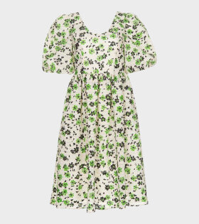 Shrimps BROCK Dress White/Green - dr. Adams