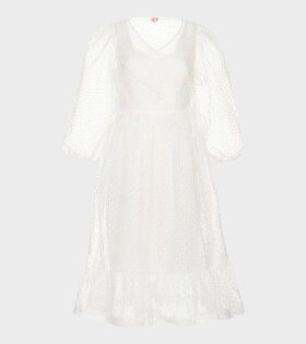 Shrimps GEORGIA Dress White - dr. Adams