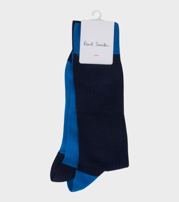 Men's Blue Mix Socks