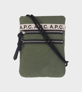 A.P.C Neck Pouch Repeat Green - dr. Adams