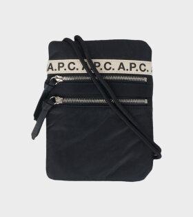 A.P.C Neck Pouch Repeat Black - dr. Adams