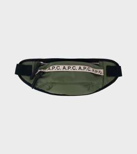 A.P.C Banane Repeat Bag Green - dr. Adams