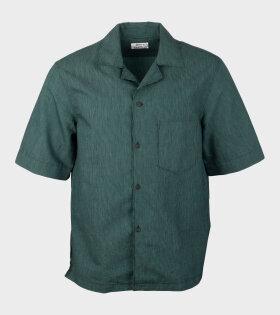 Acne Studios Simon Cr Stripe Shirt Green - dr. Adams