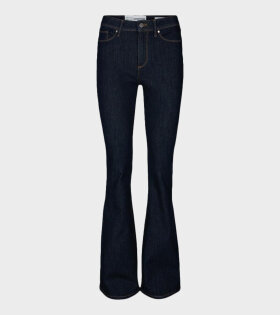 Tomorrow Albert High Waisted Flare Jeans Blue - dr. Adams