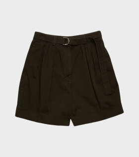 Rowanna Cotton Twill Shorts Black - dr. Adams