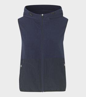 Viola Navy Vest Navy Blue